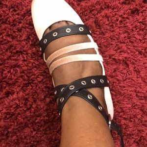 Kenneth Cole Ballet Flats with Ankle Straps